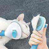 Ycloud Spazzola per animali domestici, spazzola per gatti, spazzola per cani con pulsante di pulizia per tutti i cani e gatti a pelo lungo e corto
