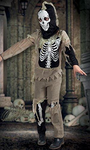 Boland- Costume Scheletro Zombie Skeleton per Bambini, Nero/Beige, 10-12 anni, 78050