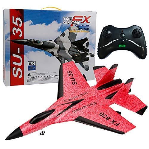 Eariy 42,2 cm x 32,2 cm x 7,5 cm Rc mando a distancia helicóptero avión velero espuma EPP 3,5 Ch juguete modelo avión Rígido gel pequeño avión teledirigido (rojo)