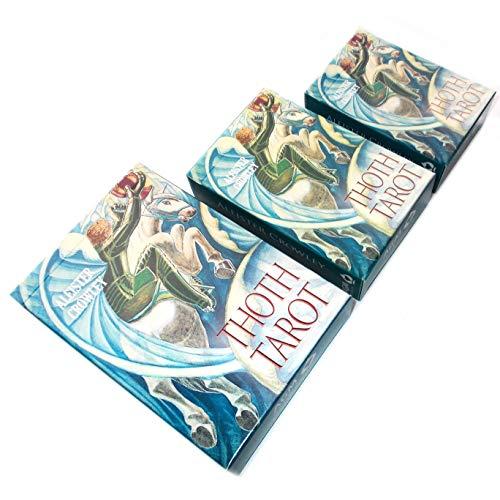 Green Cross Toad Aleister Crowley Thoth Tarot, 78 Cartes de Divination avec Instructions en Anglais (De
