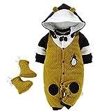 Traje de Invierno Bebe Mono Algodón con Zapatos Mamelucos Niña Niño Ropa Conjunto Bebé Recién Nacido