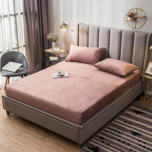 haiba Double Fitted Sheet Extra Deep Pocket Poly Cotton Mattress Protector Topper Bed sheet Double Bed Set 150cmx200cm