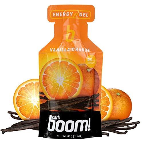 Boom Nutrition - Carb Boom Energy Gel - Fruit-Flavored Energy Gels - Workout Gel - Energy Gel for Cycling - Running Gel - Natural Energy Gel - Vanilla Orange (24 Pack)