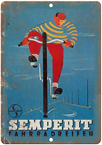 Decorative Vintage Retro Metal Sign Semperit Bicycles Vintage Ad Metal Tin Sign 8 X 12 Inches