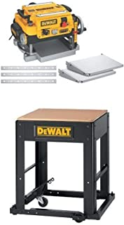 "DEWALT DW735X 13"" Two-Speed Planer Package with DW7350 Planer Stand with Integrated Mobile Base"