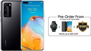 HUAWEI P40 Pro Smartphone 5G, 256 GB, 8 GB RAM, Dual SIM (Black) + Watch GT 2 Latona (Black) + Flip Cover (Black) + VIP Service (6 months damage protection) - [Preorder Free Gift]