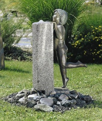 Robin Bronzefigur Skulptur aus Bronze echte Handarbeit Gartenskulptur Gartenfigur Garten-Statue