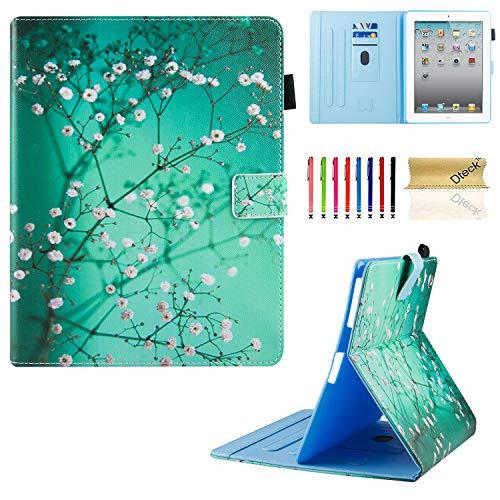 Dteck Schutzhülle für iPad 2 / 3 / 4, Eckenschutz, 3D-Muster, Standfunktion, Buch-Stil, mit automatischer Wake-/Sleep-Funktion, Ganzkörper-Schutzhülle für iPad 2, iPad 3. Generation, iPad 4. Generation Tablet