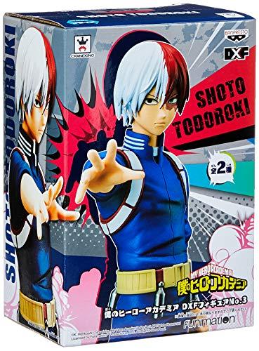Action Figure - My Hero Academy - Shoto Todoroki DXF Bandai Banpresto, Multicor