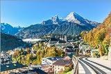 Poster 100 x 70 cm: Watzmann über Berchtesgaden von Achim