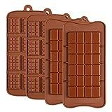 Gobesty Schokoladenform, 4 Stück Silikon Schokolade...
