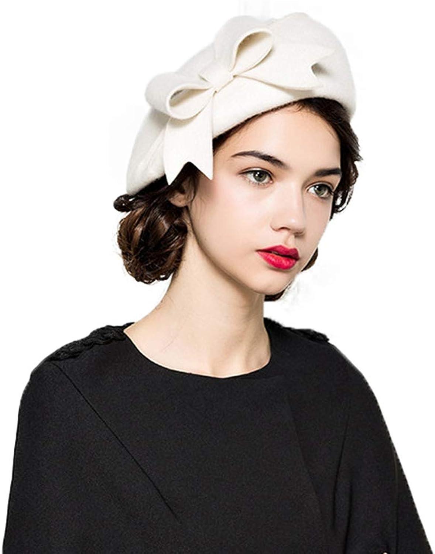 Giles Jones Women Fascinators Elegant Fedora White Black Hats Wedding Bowknot Berets Hat
