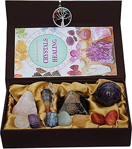 KACHVI Cristales curativos Piedras curativas Curación 7 Piedras Naturales de Chakra caídas/meditación Kit de curación de Cristal de 13...