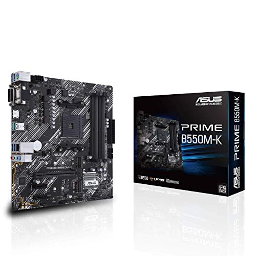ASUS Prime B550M-K Micro ATX Motherboard with Dual M.2.