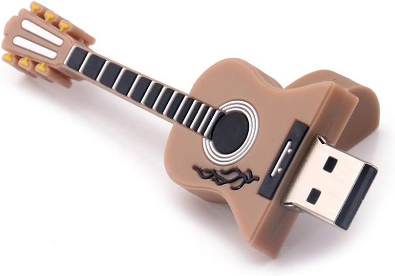 schicj133mm Creative USB Flash Drive Gift,4GB 8GB 16GB 32GB 64GB Capacity Mini Guitar Memory Storage U Disk,for School Office, Photos Music and Other Files Black 64G Videos
