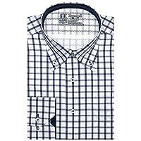 ブリックハウス ワイシャツ 長袖 形態安定 レイヤードクール ボットーニ ボタンダウン 標準体 メンズ BM010200AB12V3M-14 ブルー M-80