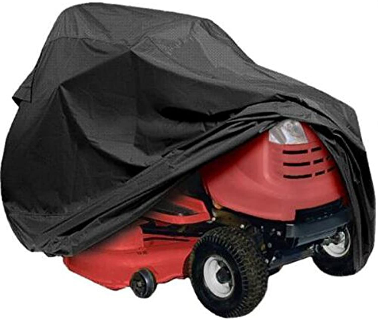 ShopSquare64 177 x 110 x 110cm Polyester Black Tractor Grill Cover Garden Yard Mower Overlay