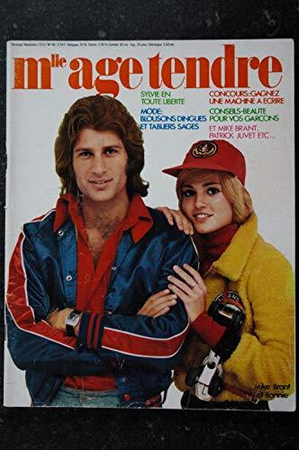 mademoiselle age tendre n° 96 * novembre 1972 * INCOMPLET * SYLVIE VARTAN Patrick JUVET Mike BRANT