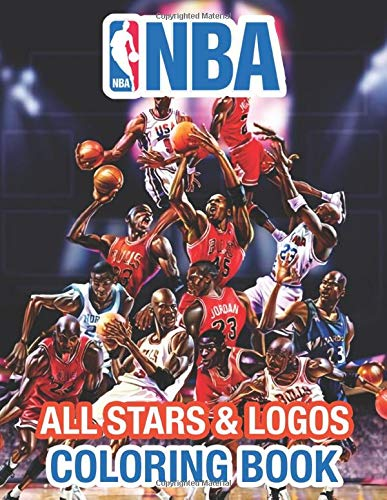 NBA All Stars Coloring Book: LeBron James, Kevin Durant, Kawhi Leonard, Stephen Curry, Russell Westbrook and all team logo