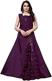ba8075f53f44d sat creation Women's cotton Anarkali Style Gown free size(m to ...