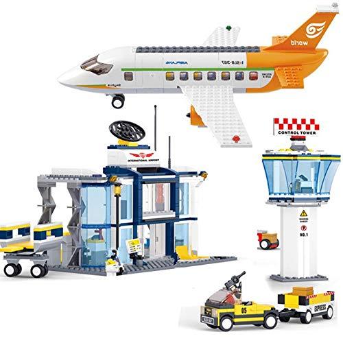 678pcs City International Airplane Airport Terminal Aviation Modelo Técnico Bloques de Construcción Conjuntos de Figuras de Avión Ladrillos Juguetes Niños