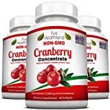Non GMO Cranberry Concentrate Supplement Pills for Urinary Tract Infection UTI....