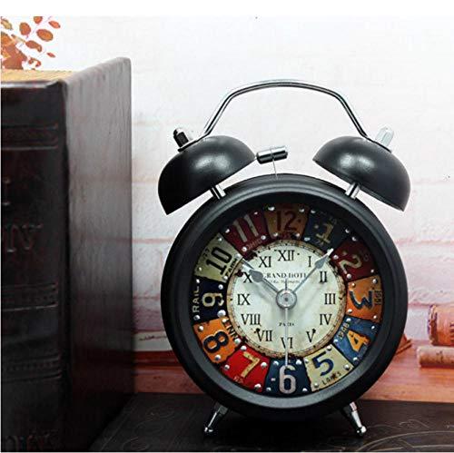ZYZYY wekker metalen klinknagels digitale klok vintage ouderwetse handmatige uurwerk ultra arge mechanische wekker