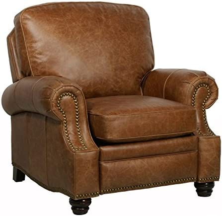 Barcalounger Longhorn II Leather Recliner 2021 Saddle Grain Top Excellence Chaps