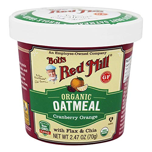 BOB'S RED MILL, OATMEAL, OG2, CUP, CRN OR, GF, Pack of 12, Size 2.47 OZ - No Artificial Ingredients Gluten Free 95%+ Organic