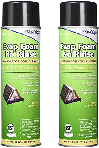 Nu-Calgon 4171-75 Evap Foam No Rinse Evaporator Coil Cleaner, 18 oz. (Pack of 2)