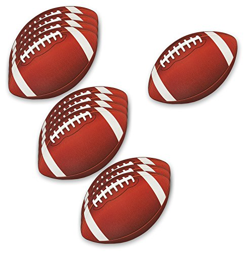 Blue Panda Football Decorations for Party   Football Cutout for Game Day (12 Pack)