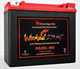 Motorcycle Battery; RG20L-WS; Indian 2014, 2015, 2016, 2017, 2018 Chief Classic, Chief Vintage, Chieftain, Roadmaster, Chief Dark Horse, Chieftain Dark Horse. 500+ CCA's