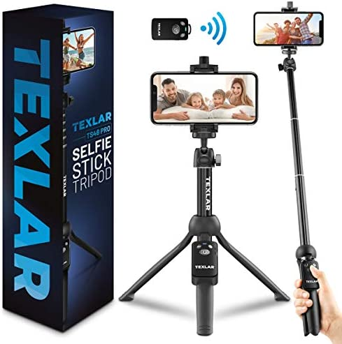 Texlar Selfie Stick Tripod TS48 Pro with Remote Extendable to 48 Inches for iPhone 7 8 X XR product image
