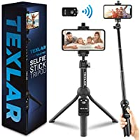 Texlar Selfie Stick Tripod TS48 Pro with Remote, Extendable to 48 Inches