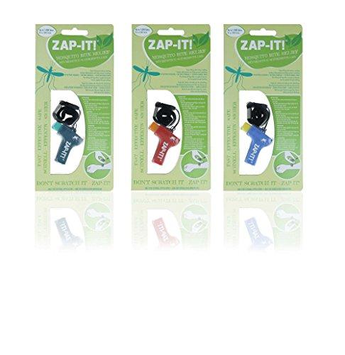 Horn Medical Zap IT Mückenschmerzstiller, 3er Set, klinisch getestet (1 x Türkis, 1 x Rot, 1 x Blau)