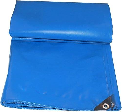 Bache de tente durable tente extérieure bache camion prougeection contre la pluie écran solaire bache cargo coupe-vent hangar tissu haute température anti-vieillissement (Couleur   Bleu, Taille   4x6M)