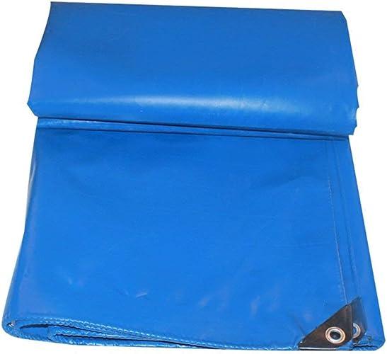 JINSH Tente extérieure bache Camion Anti-Pluie crème Solaire bache Cargo Coupe-Vent Hangar Tissu Haute température Anti-vieillissement, Bleu (Couleur   bleu, Taille   6X8M)