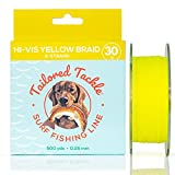 Surf Fishing Saltwater Braided Fishing Line 30Lb 500Yds Hi Vis Yellow |4 Strand Surf Fishing Braid Line for Striped Bass, Red Drum, Snook, Shark, Trout, Flounder