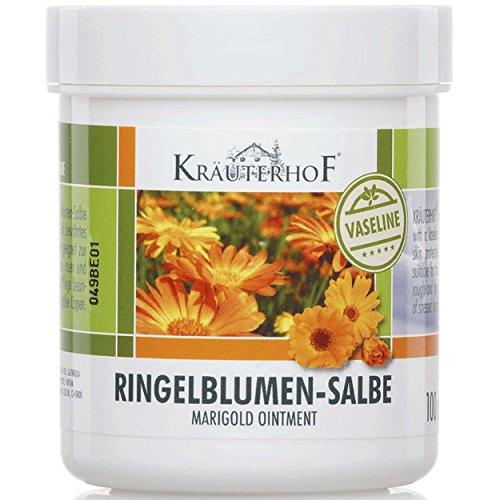 Kräuterhof 5er Vorteilspack Ringelblumen-Salbe mit Vaseline, 5 Dosen a 100ml