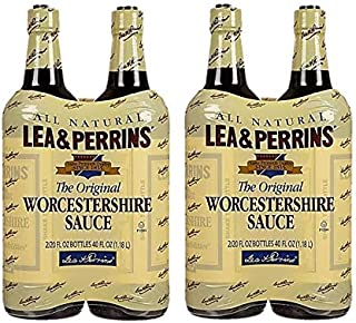 Lea & Perrins Worcestershire Sauce All Natural Kosher - Pack of 4 Bottles - 20oz Each !
