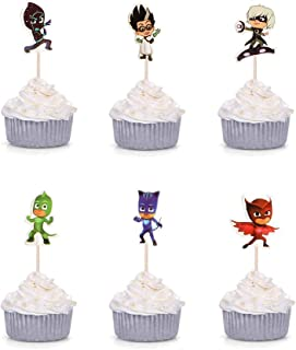 24PCS PJ Mask Cupcake Toppers Cake topper For Birthday Party Decoration Supplies