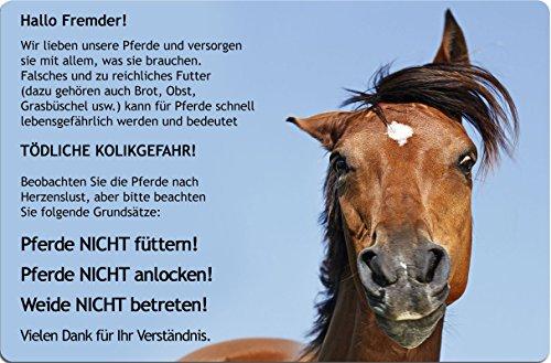+++ PFERDE NICHT FÜTTERN - METALL WARNSCHILD SCHILD STALLTAFEL Boxenschild SIGN - PFD 06