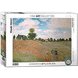EuroGraphics 'El Campo de Amapolas de Claude Monet Puzzle (1000Piezas, Multicolor)