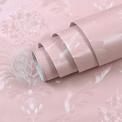 LZYMLG Moderne minimalistische Art-Tapeten-gestreifte Normallack-Tapeten-Wohnzimmer-Fernsehsofa-Hintergrund-Wandverkleidung Pink A