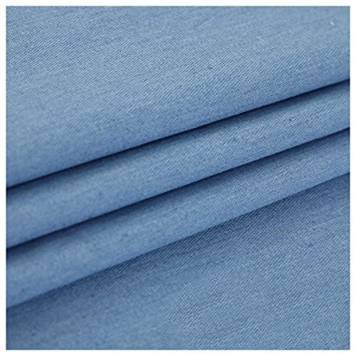 HANYU Stretch Stoff Denim 100% Baumwolle Gewaschenes Tuch Nähen Denim Weste Hemd Kleid Jeans Kleidungsstück Stoff Nicht Dehnbar Dünnschnitt (Größe: 1,45 M * 1 M)(Size:1.45M*3M,Color:Hellblau)