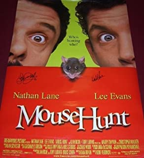Mousehunt Nathan Lane Lee Evans Cast Signed Autographed 27x40 Movie Theatre Poster Loa