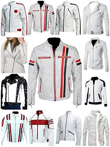 Westernmode Männer, Frauen Biker Stil Motorrad Lederjacke Verschiedene Biker Stil Design Motorradjacke (12 Verschiedene Designs)