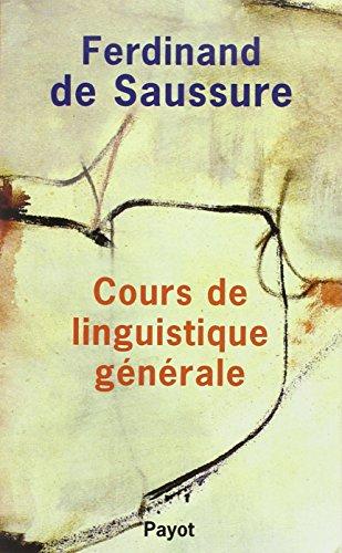 Cours de linguistique générale