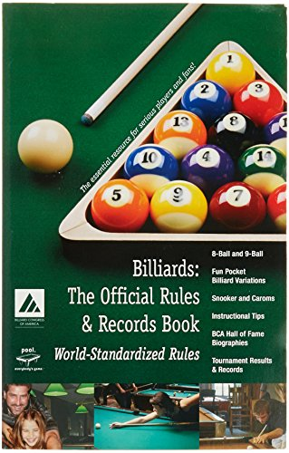 Imperial Billiard Congress of America (BCA) Paperback, Billiards: The Official Rules & Records Book
