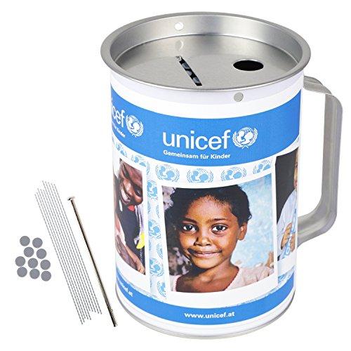 HMF 4810007 individuelle Spendendose 10,0 cm Ø, 14,5 cm hoch mit Griff, Klebefolie mit Bildupload, Freitext